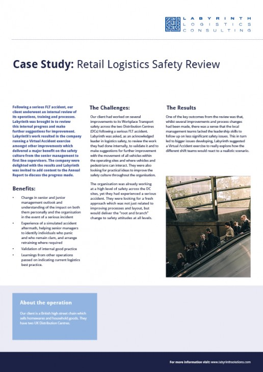 Retail Logistics Safety Review